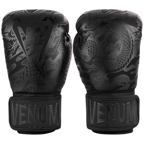 Venum Dragon's Flight Boxing Gloves – Black/Black picture 1