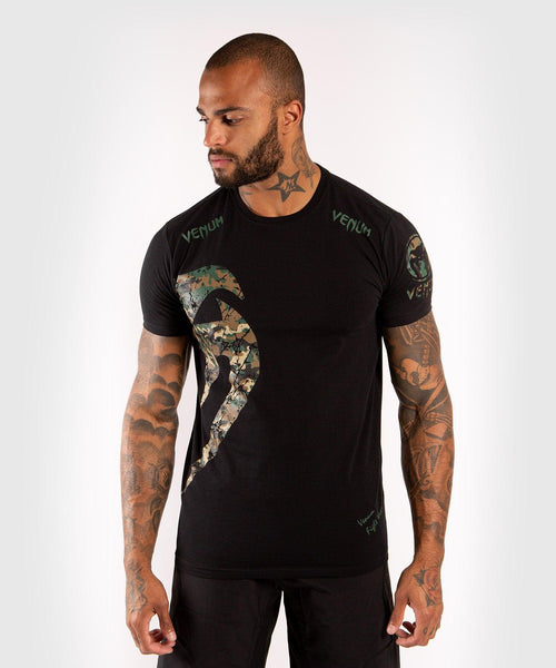 Venum Original Giant T-Shirt - Black/Forest Camo picture 1