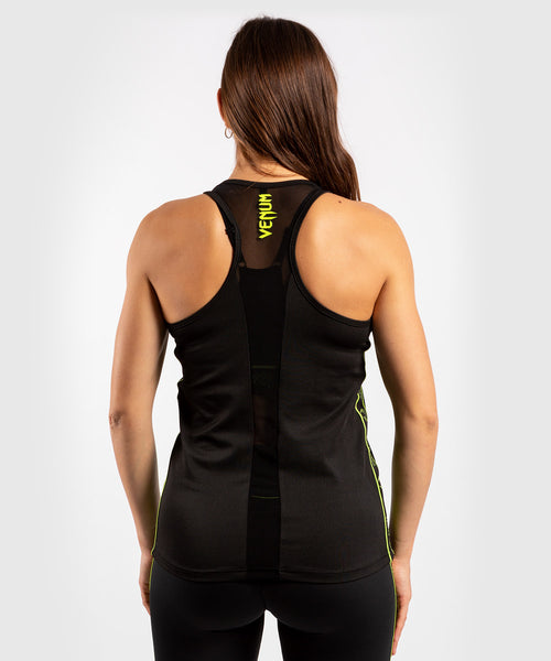 Venum Tecmo Tank Top - For Women - Black/Neo Yellow - picture 2