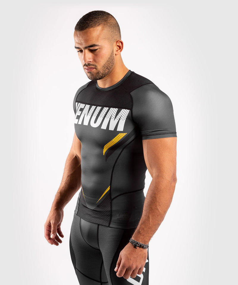 Venum ONE FC Impact Rashguard - short sleeves - Grey/Yellow - picture 3