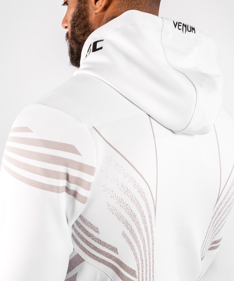 UFC Venum Personalized Authentic Fight Night Men's Walkout Hoodie - White picture 6