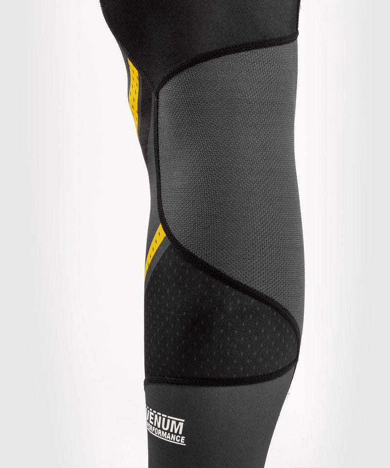 Venum ONE FC Impact Compresssion Tights - Grey/Yellow - picture 8
