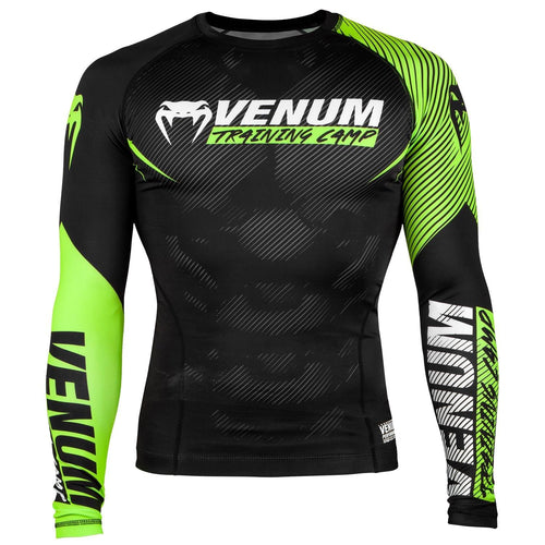 Venum Training Camp 2.0 Rashguard - Long Sleeves - Black/Neo Yellow picture 1