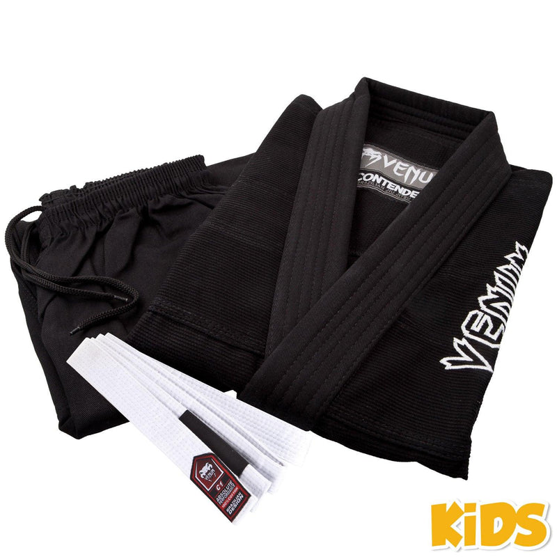 Venum Contender Kids BJJ Gi (Free white belt included) – Black picture 3