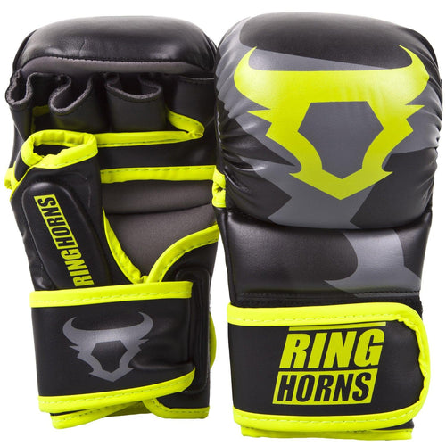 Ringhorns Charger Sparring Gloves - Black/Neo Yellow picture 1