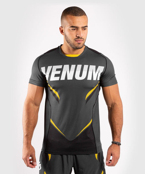 Venum ONE FC Impact Dry Tech T-Shirt - Grey/Yellow - picture 1