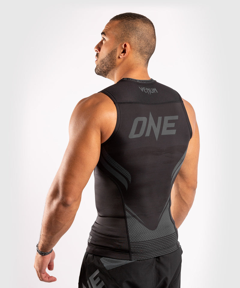 Venum ONE FC Impact Rashguard - sleeveless - Black/Black - picture 4