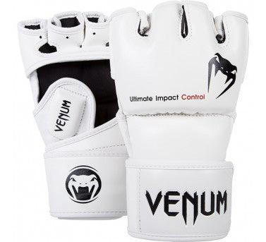 Venum Impact MMA Gloves - Skintex Leather – White picture 1