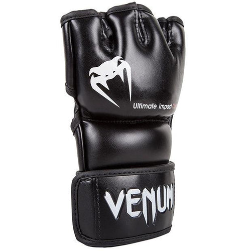 Venum Impact MMA Gloves - Skintex Leather – Black picture 2