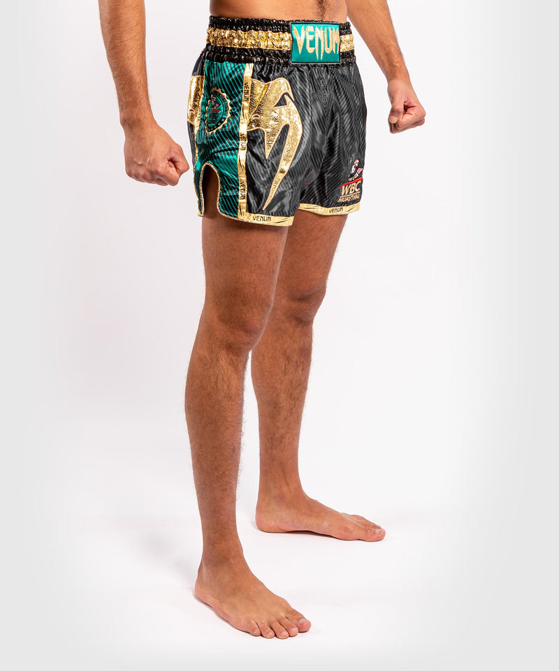 Venum WBC Muay Thai Shorts - Black/Green - Picture 5