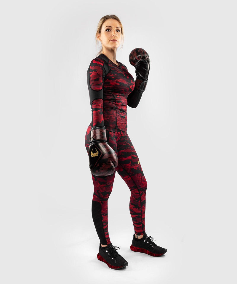 Venum Defender long sleeve Rashguard - for women - Black/Red picture 5