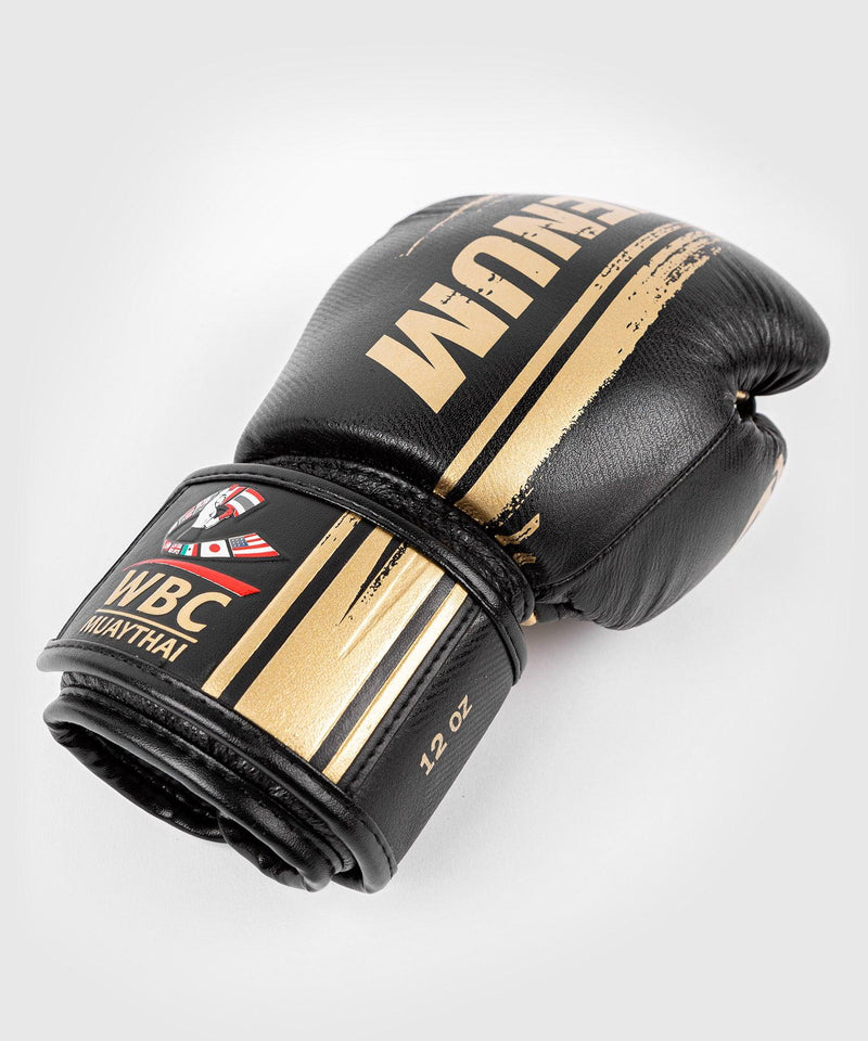 Venum WBC Muay Thai Boxing Gloves - Black/Green - Picture 4