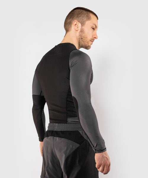 Venum G-Fit Rashguard - Long Sleeves – Grey/Black picture 5