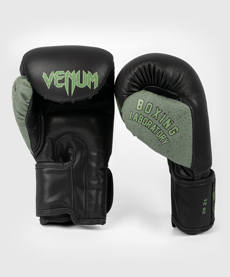Venum Boxing Lab Gloves - Black/Green picture 2