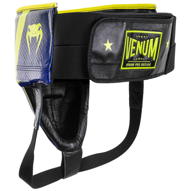 Venum Pro Boxing Protective Cup Loma Edition - Velcro – Blue/Yellow picture 4