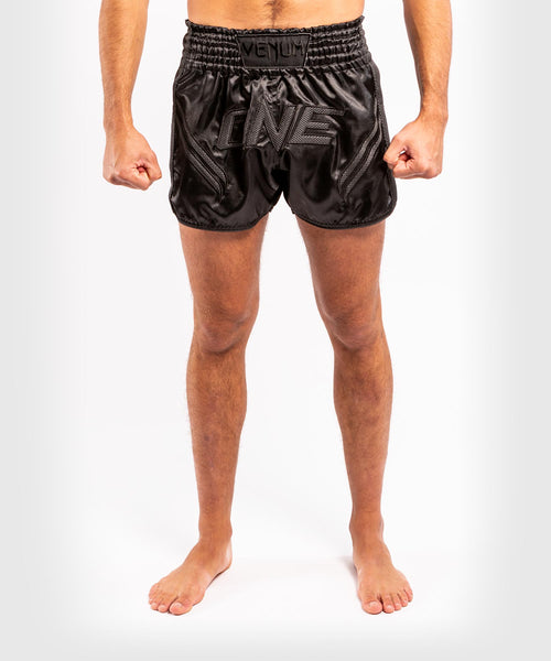 Venum ONE FC Impact Muay Thai Shorts - Black/Black - picture 1