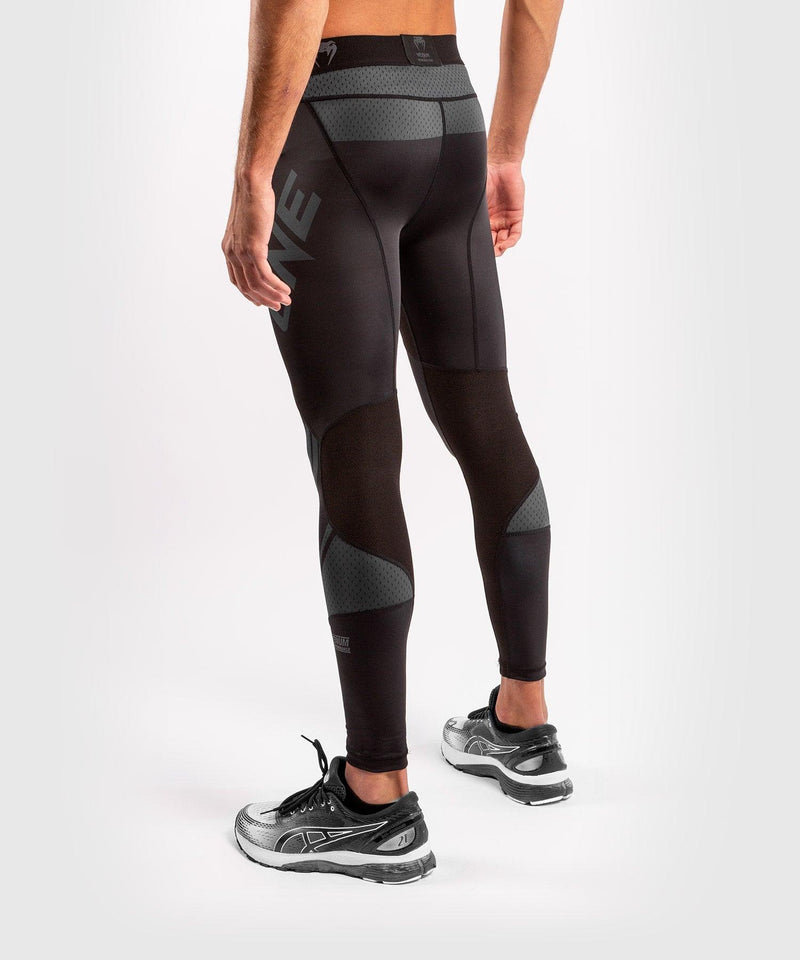 Venum ONE FC Impact Compresssion Tights - Black/Black - picture 4