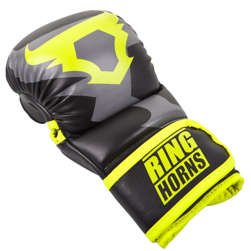 Ringhorns Charger Sparring Gloves - Black/Neo Yellow picture 2
