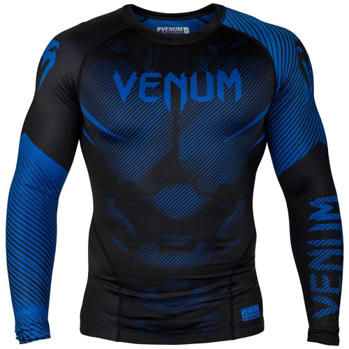 Venum NoGi 2.0 Rashguard - Long Sleeves – Black/Blue picture 1