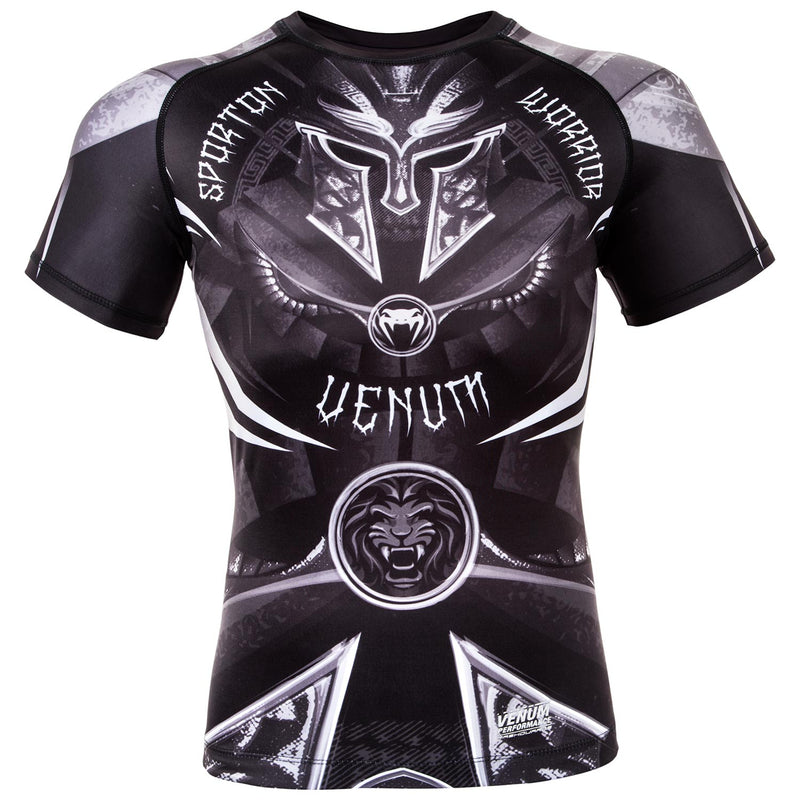 Venum Gladiator 3.0 Rashguard - Black/White - Short Sleeves picture 1