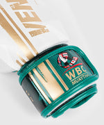Venum WBC Muay Thai Boxing Gloves - White/Green - Picture 3