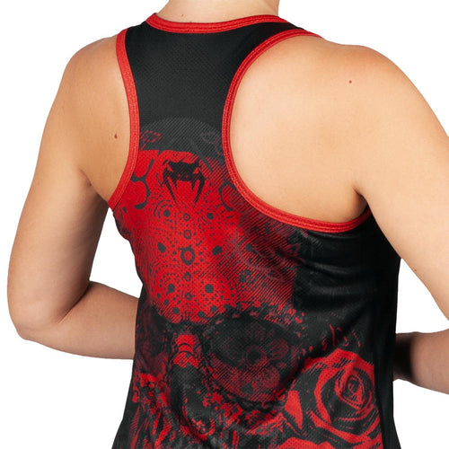 Venum Santa Muerte 3.0 Tank Top - For Women – Black/Red picture 3