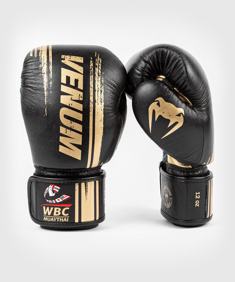 Venum WBC Muay Thai Boxing Gloves - Black/Green - Picture 1