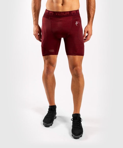 Venum G-Fit Compression Shorts - Burgundy picture 1