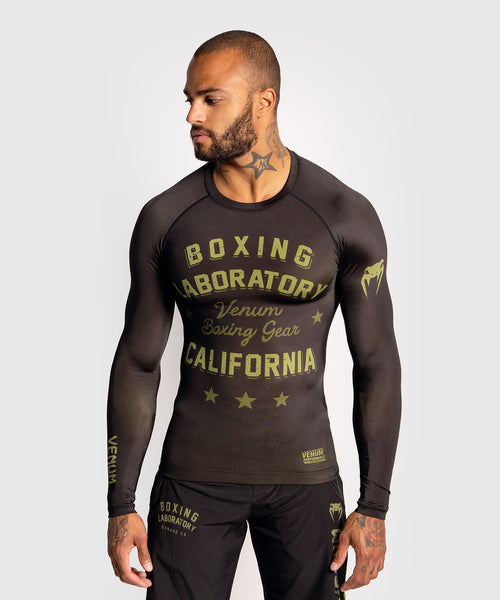 Venum Boxing Lab Rashguard - Long sleeves - Black/Green picture 1