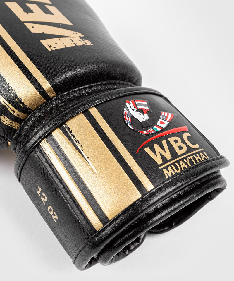 Venum WBC Muay Thai Boxing Gloves - Black/Green - Picture 3