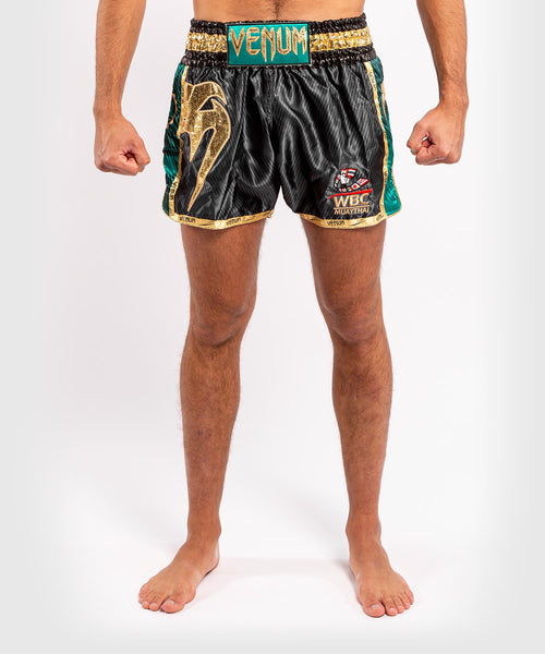 Venum WBC Muay Thai Shorts - Black/Green - Picture 1