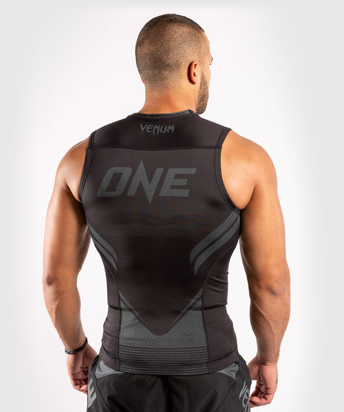 Venum ONE FC Impact Rashguard - sleeveless - Black/Black - picture 2