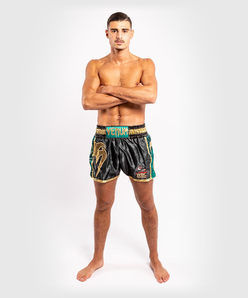 Venum WBC Muay Thai Shorts - Black/Green - Picture 8
