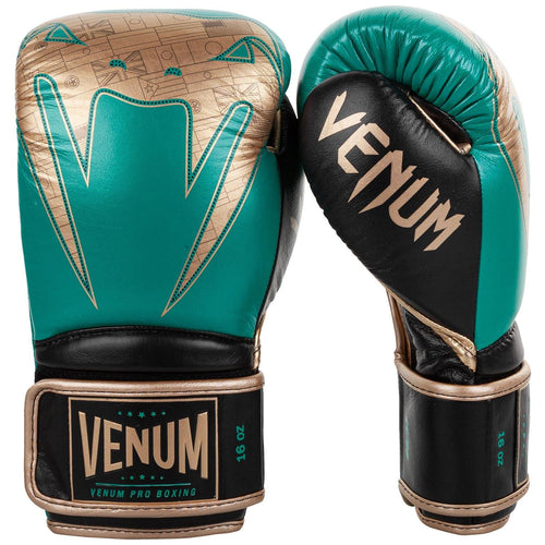 Venum Giant 2.0 Pro Boxing Gloves WBC Limited Edition - Velcro - Green Metallic/Gold picture 2
