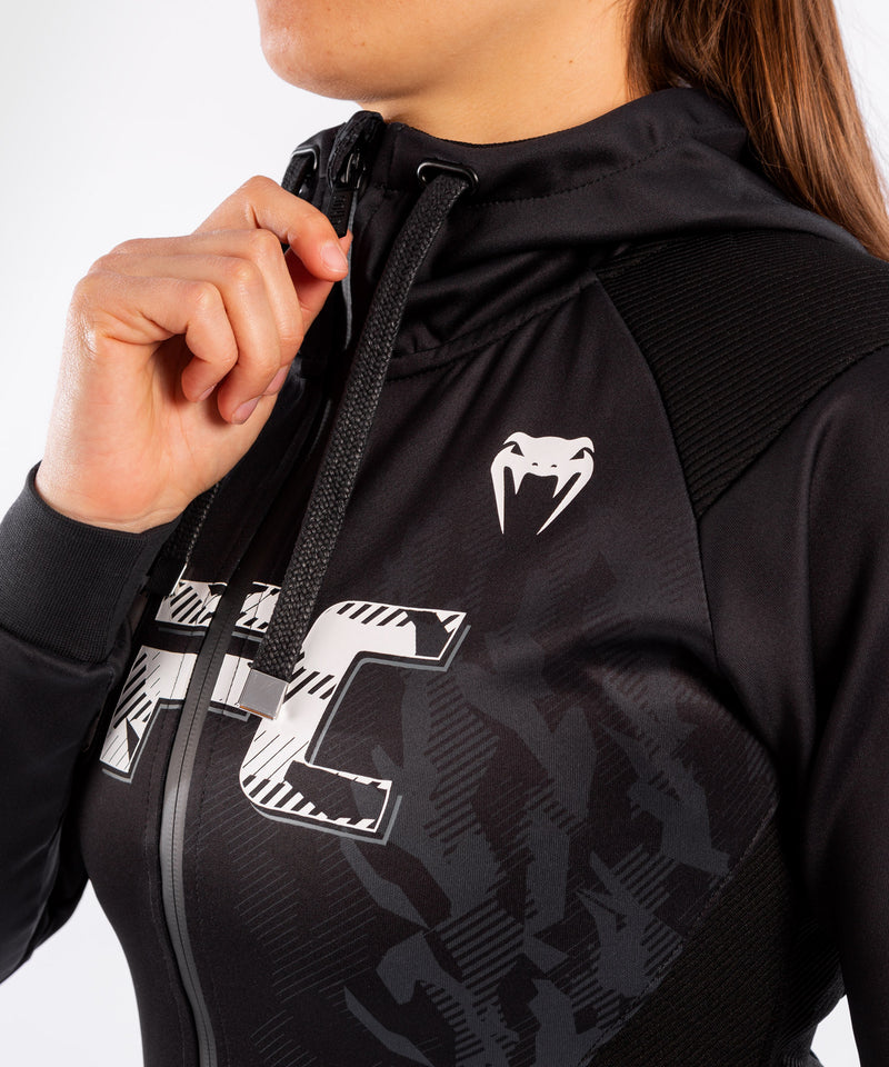 UFC Venum Authentic Fight Week Women's Zip Hoodie – Black Picture 6