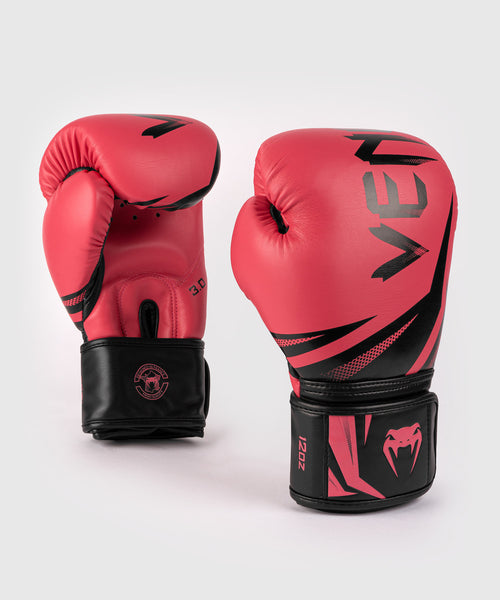 Venum Challenger 3.0 Boxing Gloves - Black/Coral picture 1