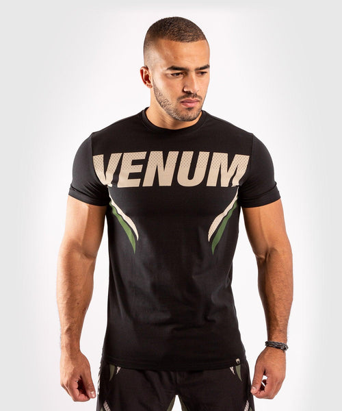 Venum ONE FC Impact T-shirt - Black/Khaki - picture 1