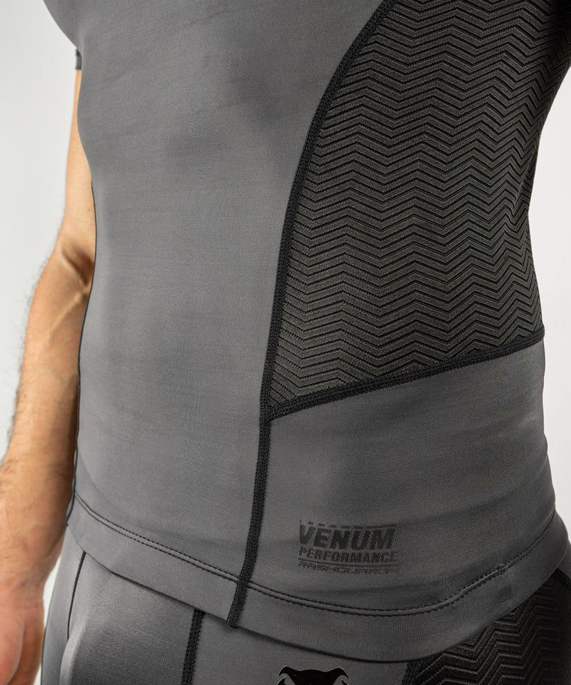Venum G-Fit Rashguard - Short Sleeves - Grey/Black picture 6