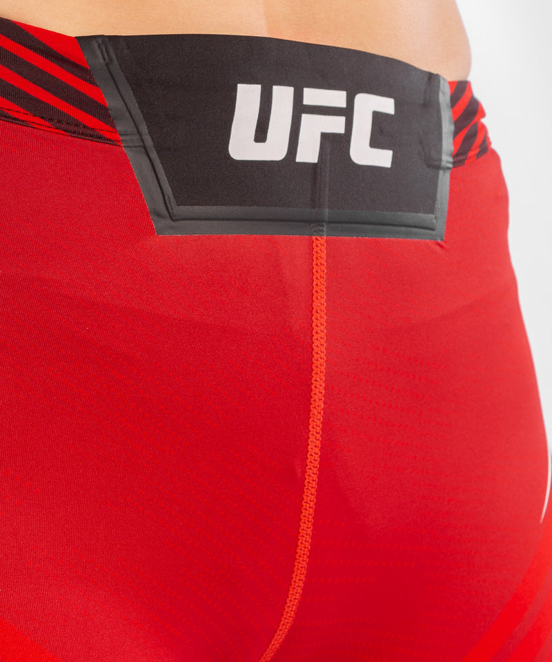 UFC Venum Authentic Fight Night Women's Vale Tudo Shorts - Long Fit – Red Picture 5