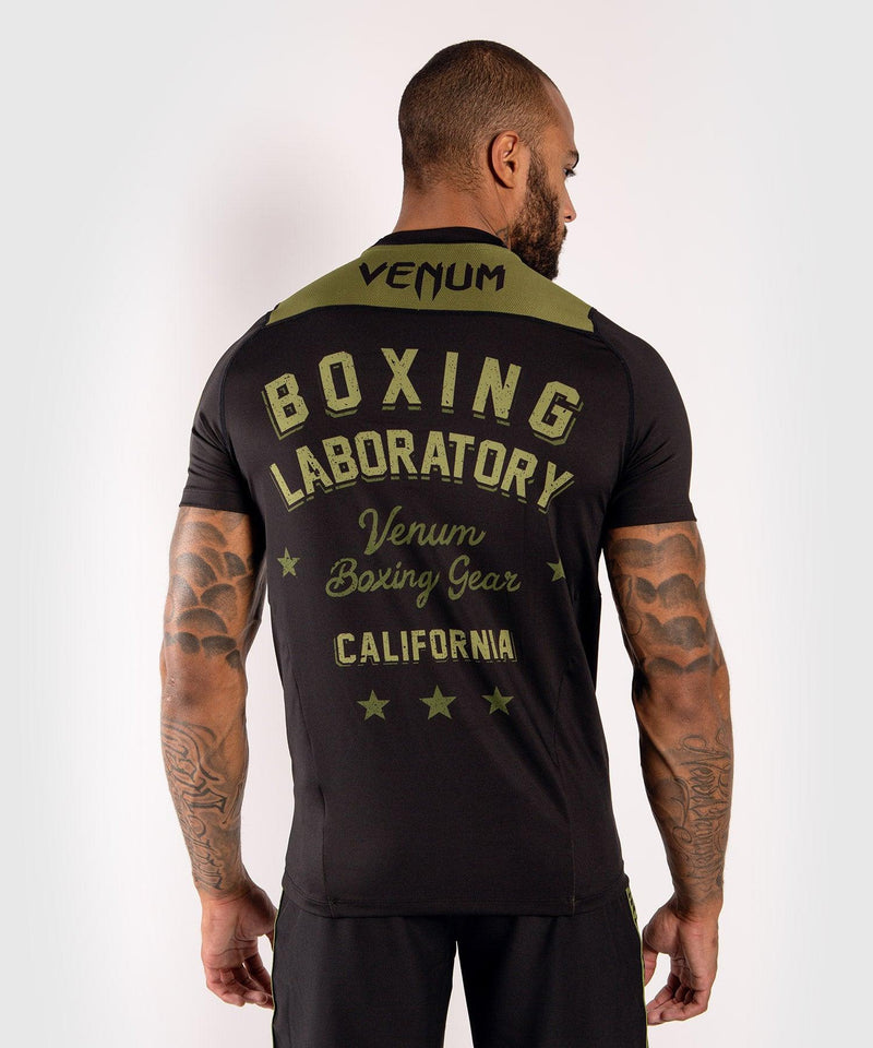 Venum Boxing Lab Dry Tech T-shirt - Black/Green picture 2