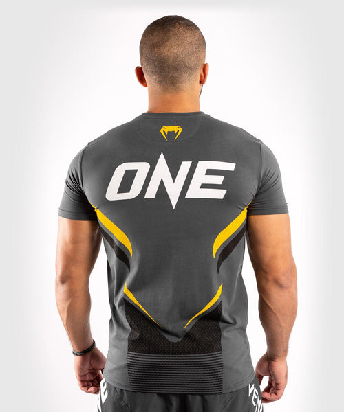 Venum ONE FC Impact T-shirt - Grey/Yellow - picture 2