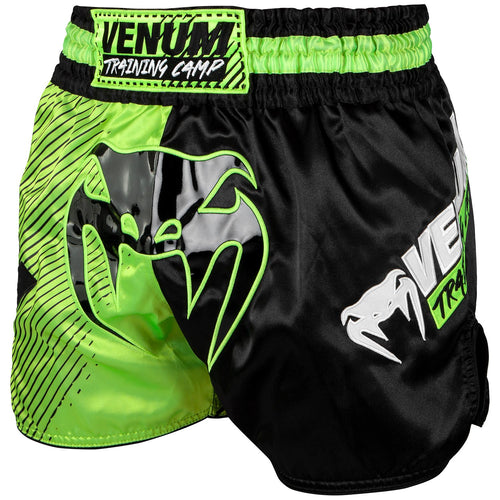 Venum Training Camp Muay Thai Shorts - Black/Neo Yellow picture 1