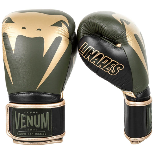 Venum Giant 2.0 Pro Boxing Gloves Linares Edition - Velcro – Khaki/Black/Gold picture 2