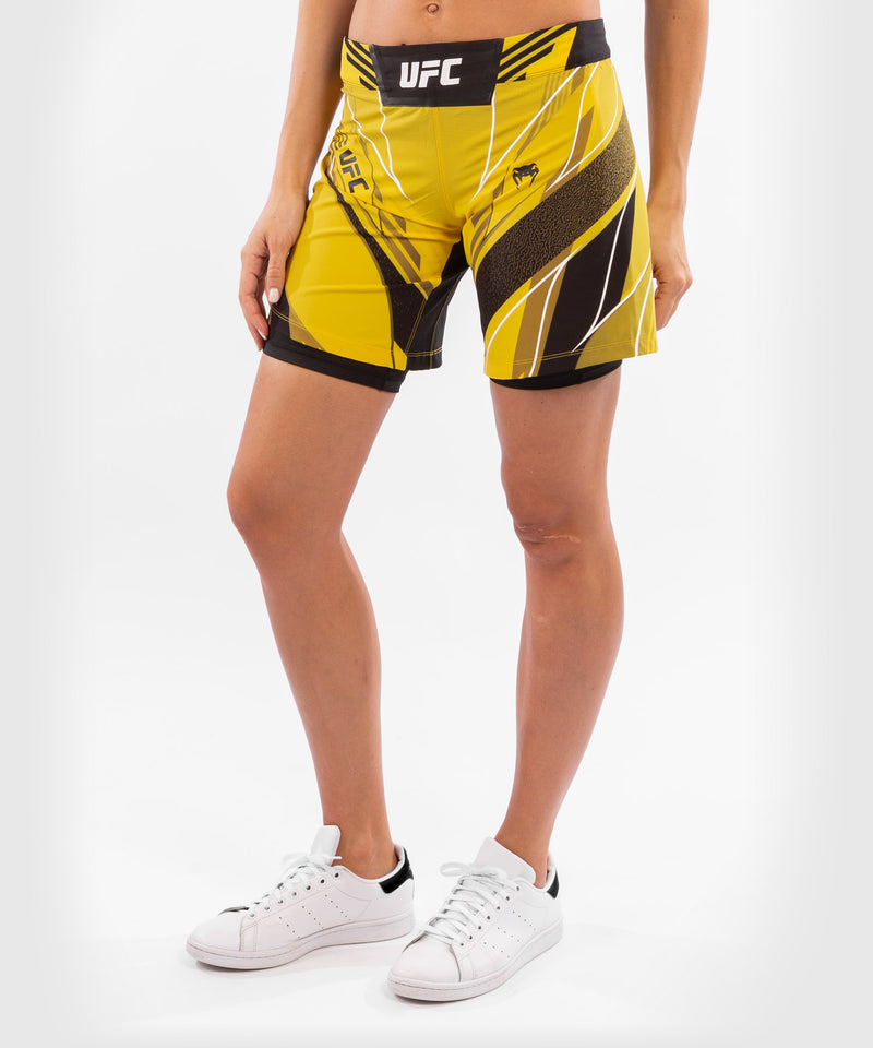 UFC Venum Authentic Fight Night Women's Shorts - Long Fit – Yellow Picture 3