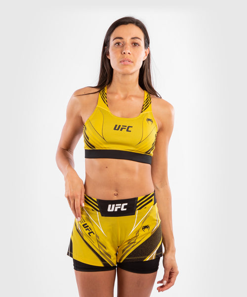 UFC Venum Authentic Fight Night Women's Sport Bra – Yellow Picture 1