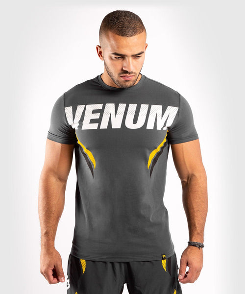 Venum ONE FC Impact T-shirt - Grey/Yellow - picture 1