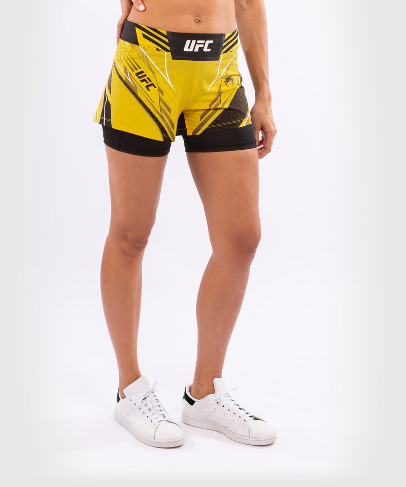 UFC Venum Authentic Fight Night Women's Shorts - Short Fit – Yellow Picture 4