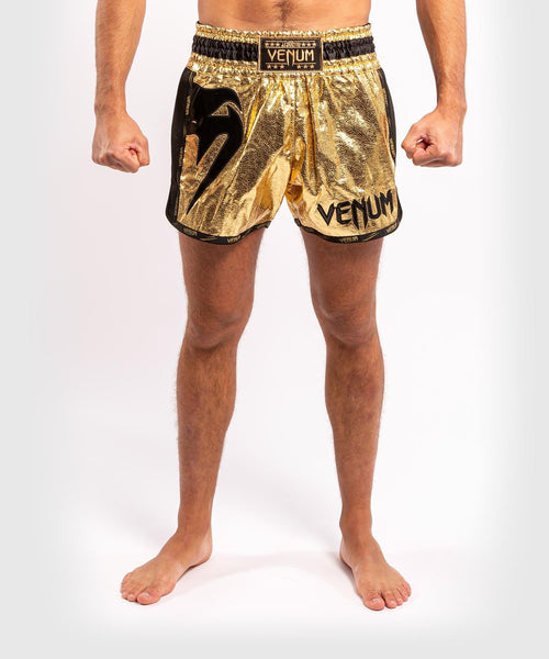 Venum Giant Foil Muay Thai Shorts - Gold/Black - picture 1
