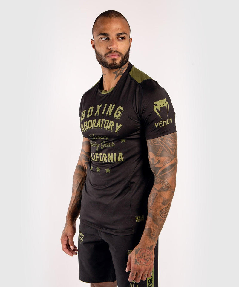 Venum Boxing Lab Dry Tech T-shirt - Black/Green picture 3