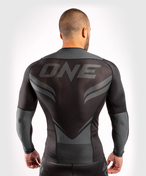 Venum ONE FC Impact Rashguard - long sleeves - Black/Black - picture 2